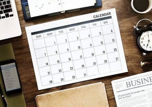 Organizing weekly chores